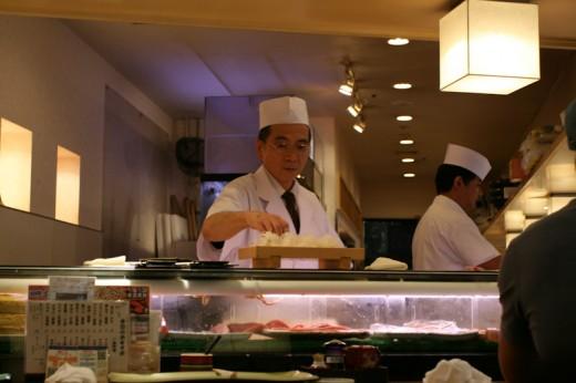Master Chef at Sushi Zanmai in Yodobashi Akihabara