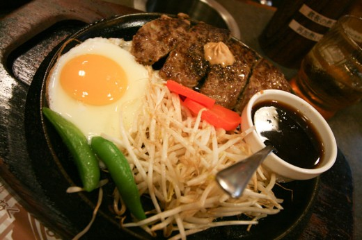 Our premium Hamburger Steak at Pepper Lunch. OISHI!