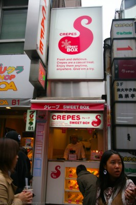 Crepes at weet Box Takeshita Dori