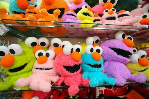 Pastel colored Elmo