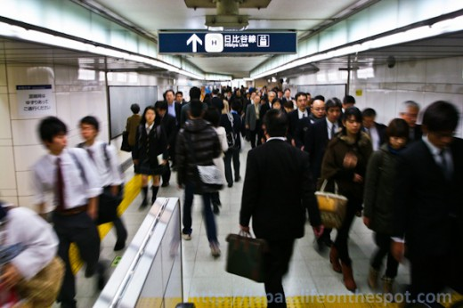 Rush Hour Madness at Tokyo Metro