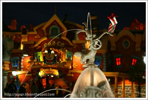 Behind is Roger Rabbit's Car Toon Spin